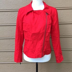 Mac & Jac asymmetrical zip red jacket size large for sale